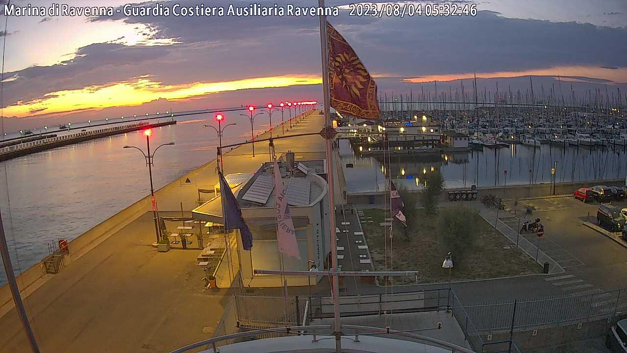 Webcam Marina di Ravenna Molo Dalmazia verso est