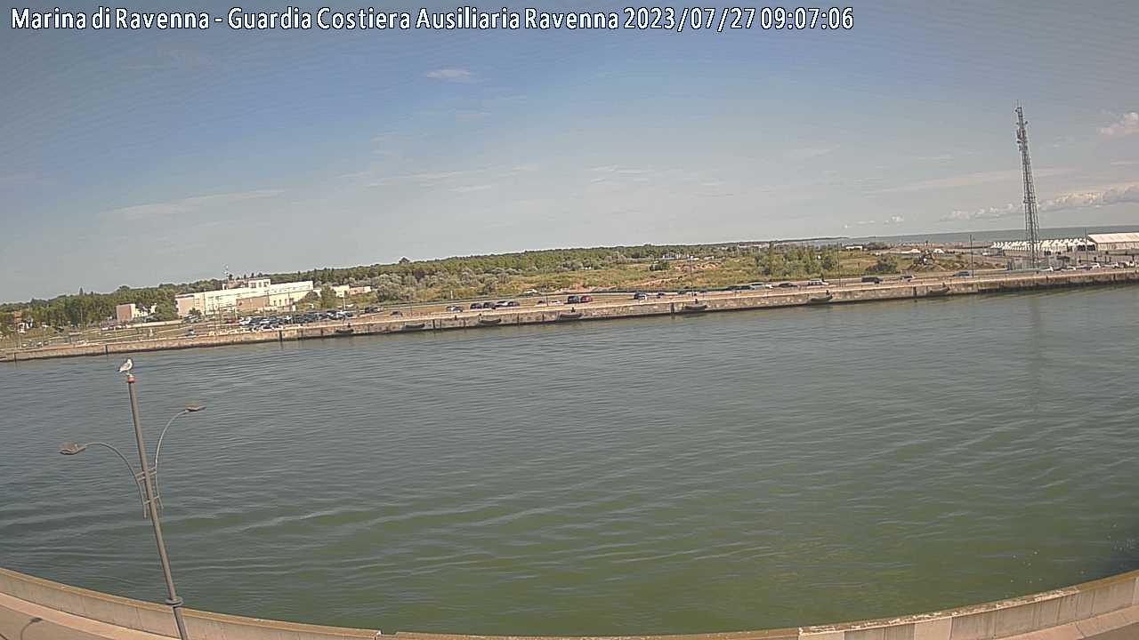 Webcam Marina di Ravenna Molo Dalmazia verso nord