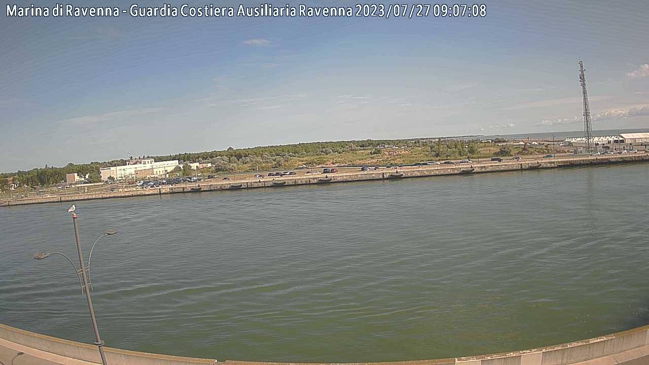 Webcam Marina di Ravenna Molo Dalmazia verso Nord 3