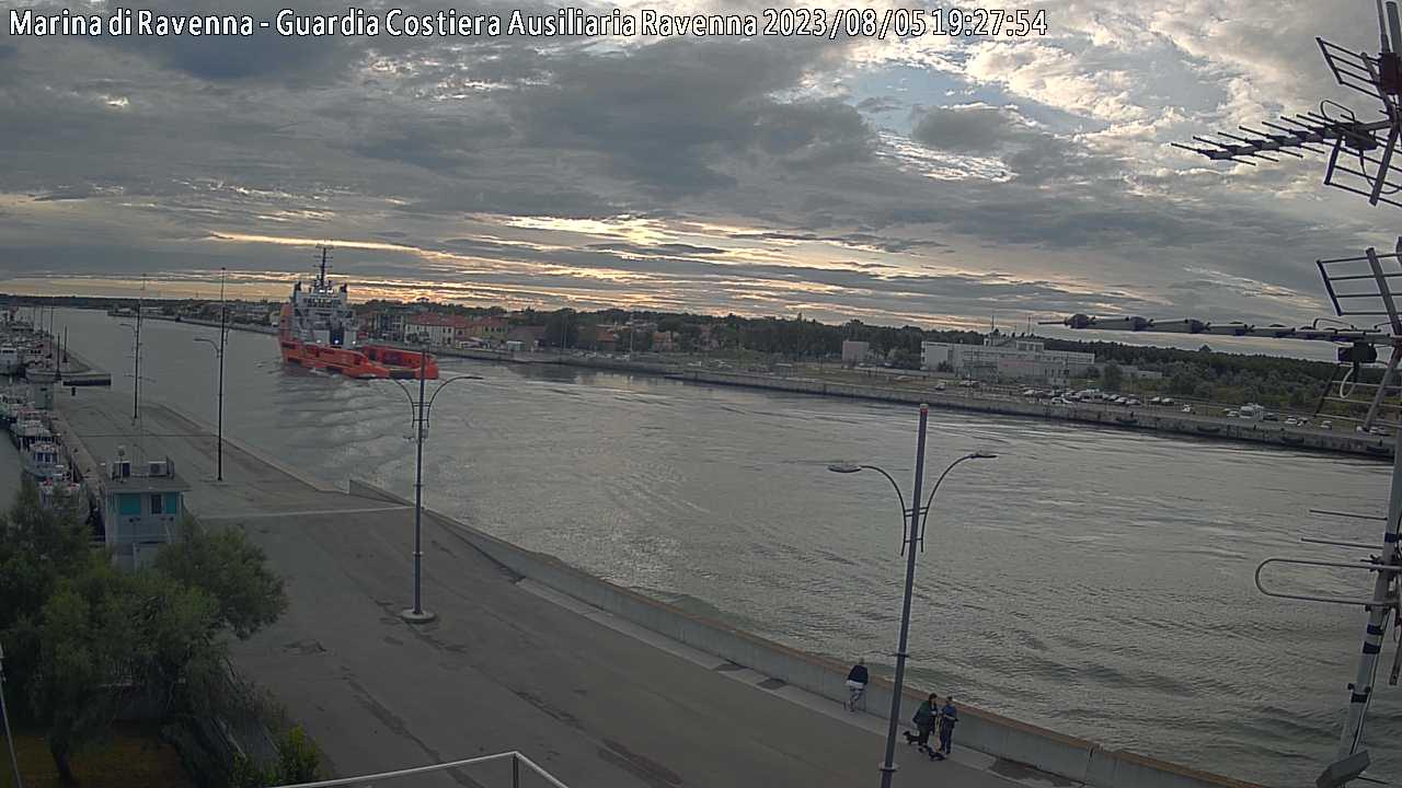 Webcam Marina di Ravenna Molo Dalmazia verso ovest 2