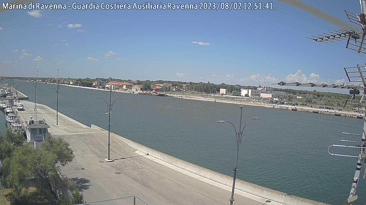 Webcam  Marina di Ravenna Molo Dalmazia