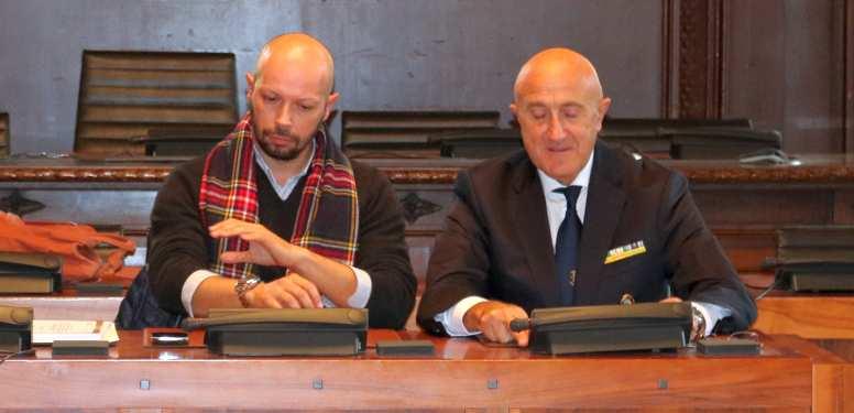 Assessore Liverani e il Presidente Curcella