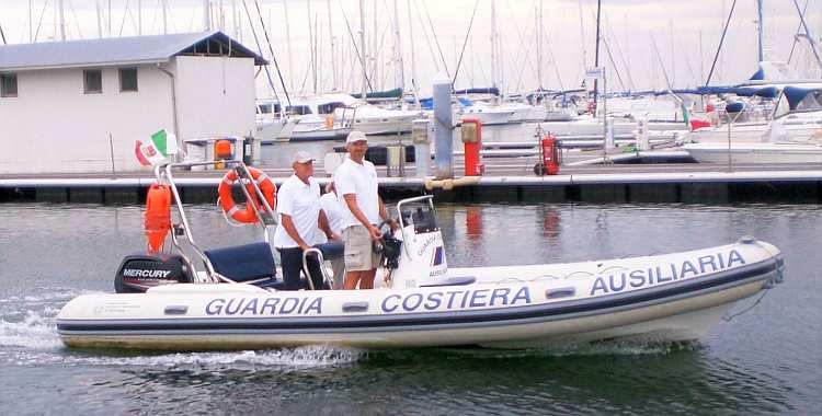 GCA impegnata in un'operazione di salvataggio a Casal Borsetti