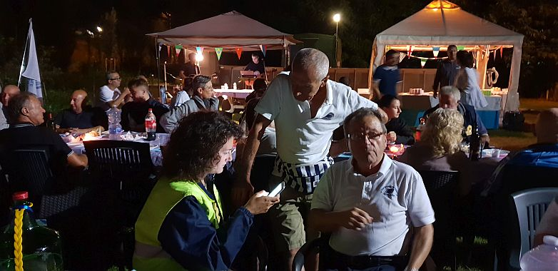 Federica Pirazzini con Volontari
