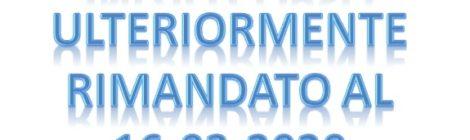 La partenza del corso per la formazione di Volontari GCA è ulteriormente posticipata a lunedì 16-03-2020