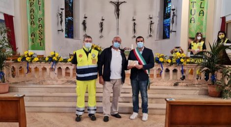 Daniele Rotatori Presidente Mistral, Ivo Angelini Presidente GCA, Sindaco De Pascale